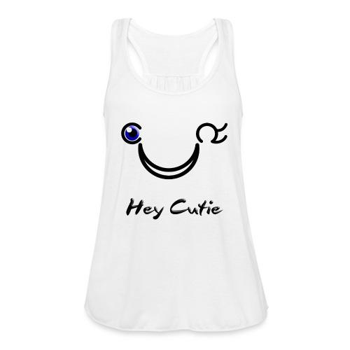 Hey Cutie Blue Eye Wink - Women's Flowy Tank Top by Bella