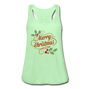 Merry Christmas - Women's Flowy Tank Top by Bella