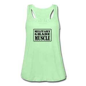 Military Grade Muscle Black - Women's Flowy Tank Top by Bella
