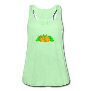 Sleeping Lion - Women's Flowy Tank Top by Bella