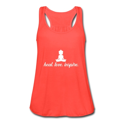 heal. love. inspire. - Women's Flowy Tank Top by Bella