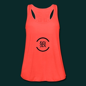 Wolf-japanese - Women's Flowy Tank Top by Bella