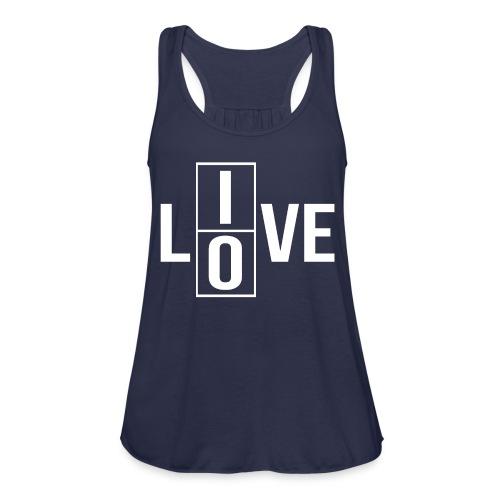 live love 2 - Women's Flowy Tank Top by Bella