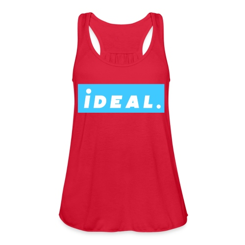 rare ideal blue logo - Women's Flowy Tank Top by Bella