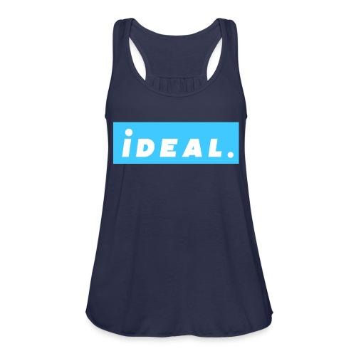 rare ideal blue logo - Women's Flowy Tank Top by Bella