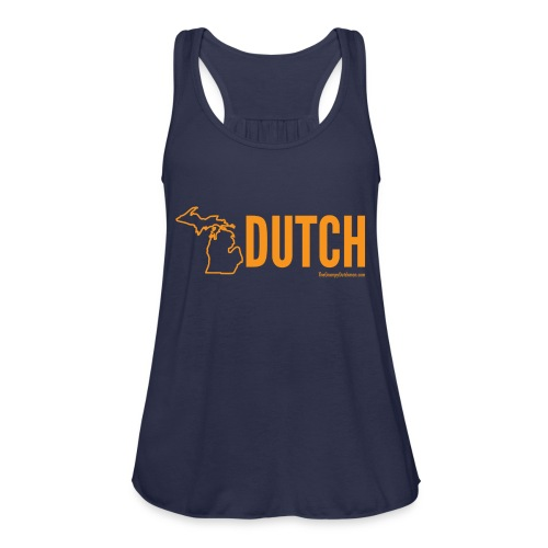 Michigan Dutch (orange) - Women's Flowy Tank Top by Bella