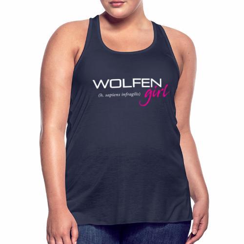 Wolfen Girl on Dark - Women's Flowy Tank Top by Bella