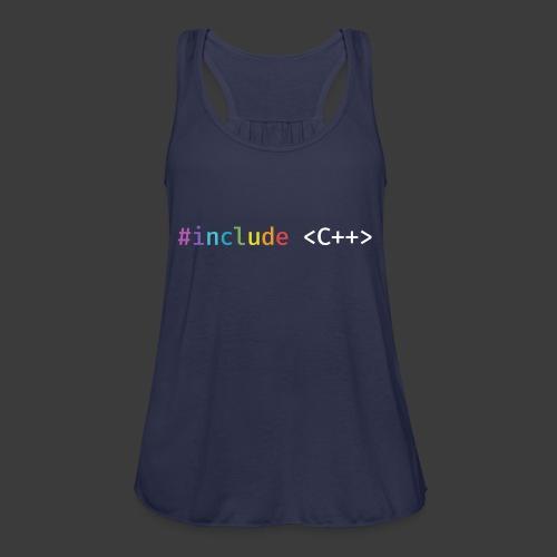 Rainbow Include C++ - Women's Flowy Tank Top by Bella