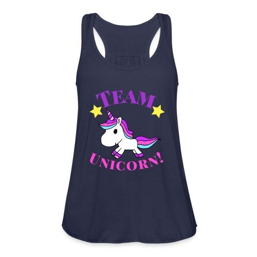 Team Unicorn! - Women's Flowy Tank Top by Bella