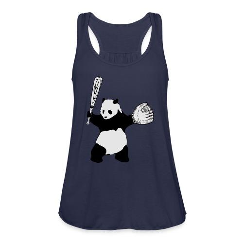 Panda Baseball - Women's Flowy Tank Top by Bella