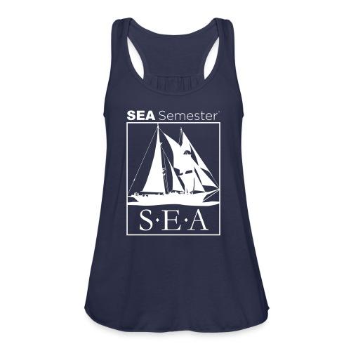 SEA_logo_WHITE_eps - Women's Flowy Tank Top by Bella