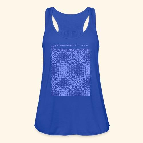 10 PRINT CHR$(205.5 RND(1)); : GOTO 10 - Women's Flowy Tank Top by Bella