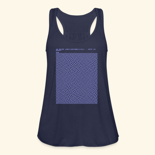 10 PRINT CHR$(205.5 RND(1)); : GOTO 10 - Women's Flowy Tank Top by Bella