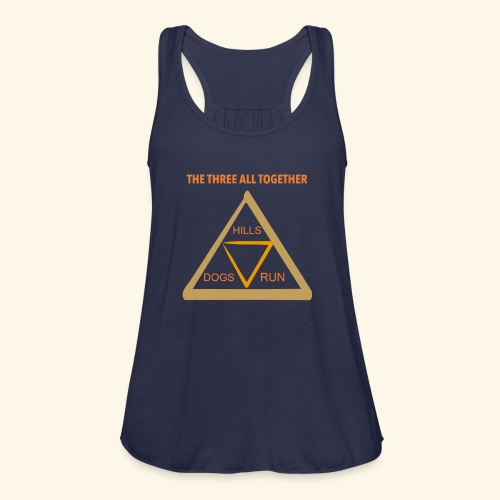 Run4Dogs Triangle - Women's Flowy Tank Top by Bella