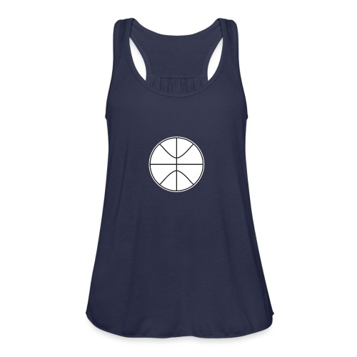 Basketball black and white - Women's Flowy Tank Top by Bella