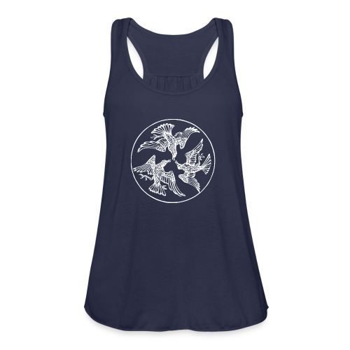 Three Crows in a Circle - Women's Flowy Tank Top by Bella