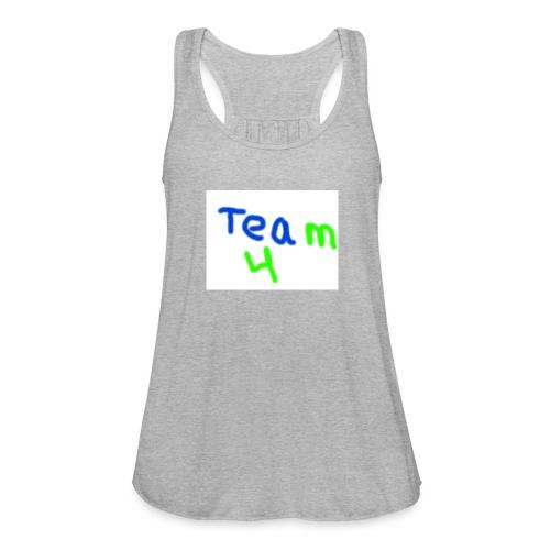 logo - Women's Flowy Tank Top by Bella