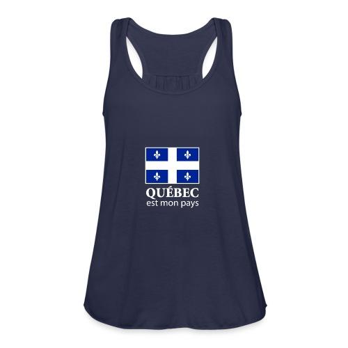 Québec est mon pays - Women's Flowy Tank Top by Bella