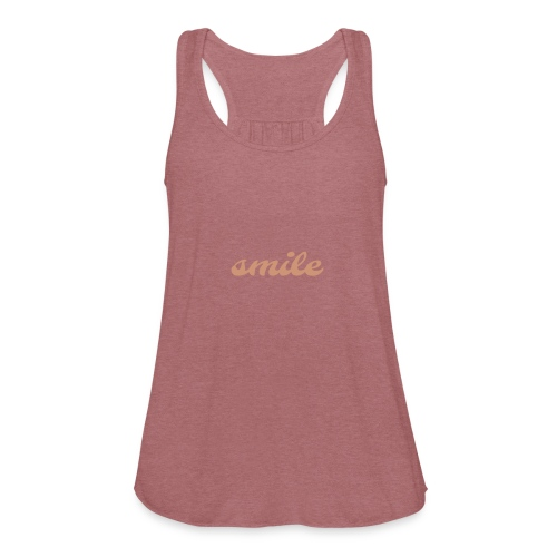 Smile - Women's Flowy Tank Top by Bella