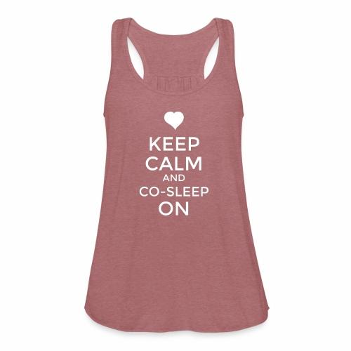 Keep Calm & Co-Sleep On - Women's Flowy Tank Top by Bella
