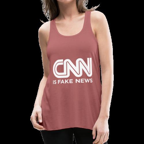 CNN Is Fake News - Women's Flowy Tank Top by Bella