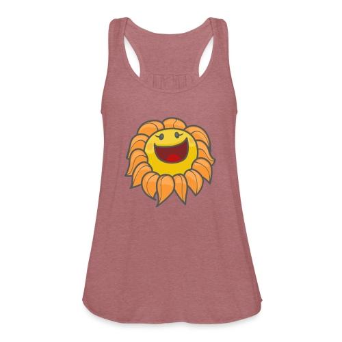 Happy sunflower - Women's Flowy Tank Top by Bella