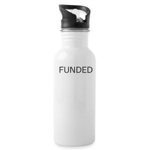 FUNDED Black Lettered T - Water Bottle
