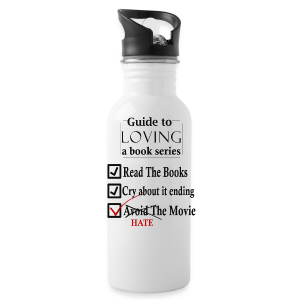Guide To Loving A Book Series (Black) - Water Bottle