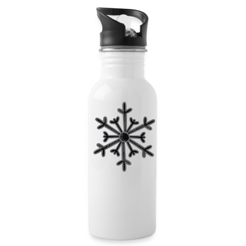 BLACK SNOWFLAKE - Water Bottle