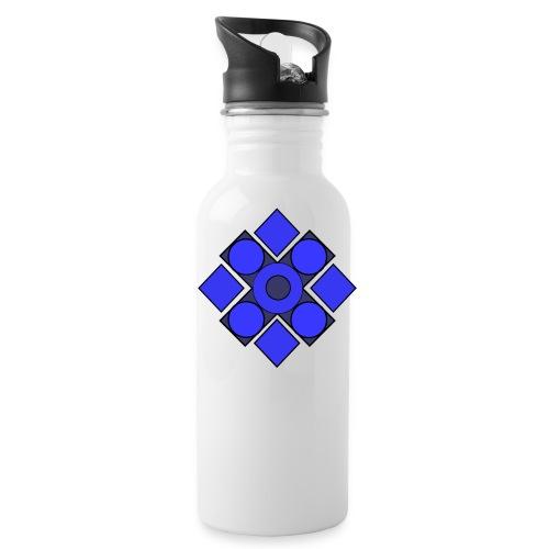 Geometric Cerulean - Water Bottle