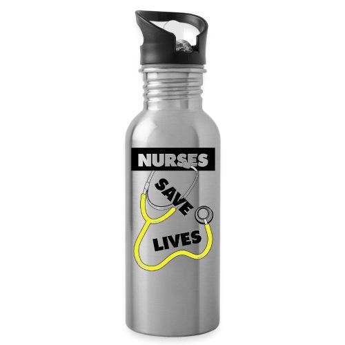Nurses save lives yellow - Water Bottle