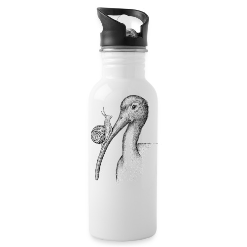 Ibis with Snail by Imoya Design - Water Bottle