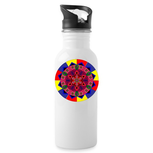 Mandala Colourful Cool Design - Water Bottle