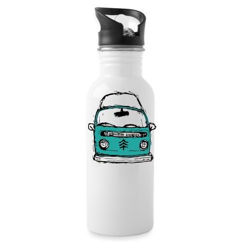 Living The Life In A Hippie Bus - Water Bottle