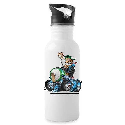 Hot Rod Electric Car Cartoon - Water Bottle