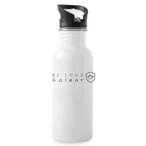 loud and clear transparent - Water Bottle