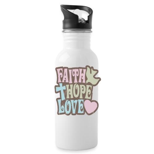 Faith, Hope, Love - Water Bottle