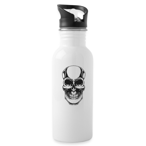 Skull Vintage Tattoo - Water Bottle
