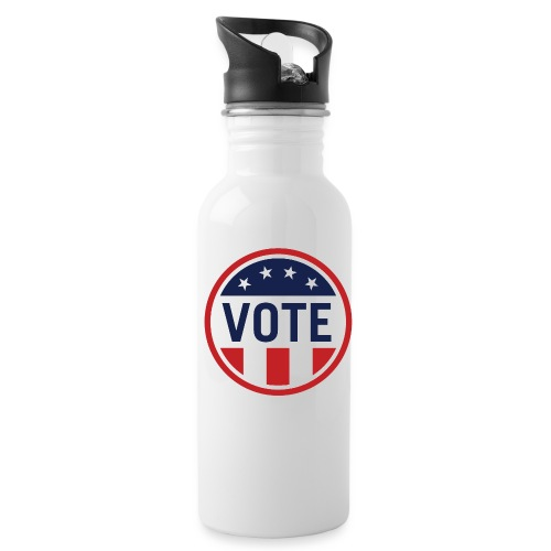 Vote Red White and Blue Stars and Stripes - Water Bottle