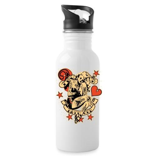 Screwed & tattooed Pin Up Zombie - Water Bottle