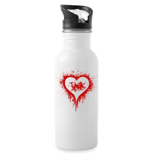 I Love Ink_red - Water Bottle