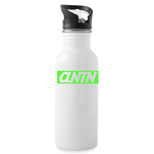 Green Box White Text png - Water Bottle