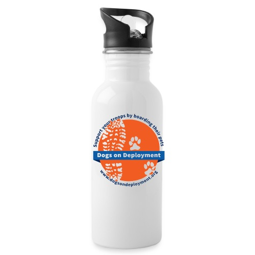 DoD-logo-circle-whiteback - Water Bottle