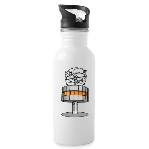 World time clock Berlin - Water Bottle