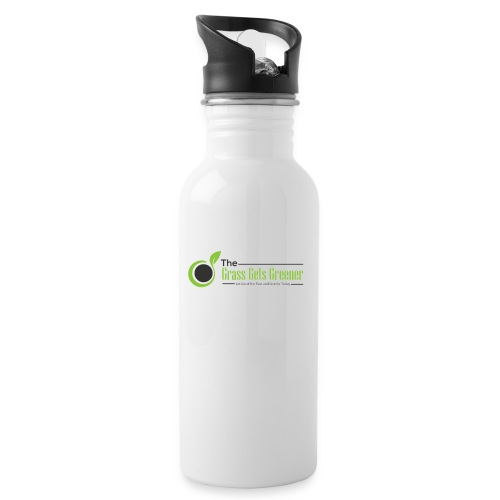 The Grass Gets Greener Logo w/ Text - Water Bottle