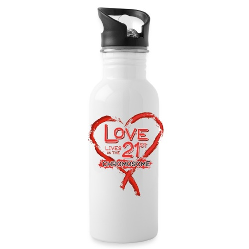 Down Syndrome Love (Red) - Water Bottle