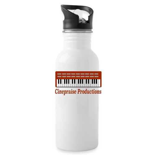 Cinepraise Logo Red Text - Water Bottle