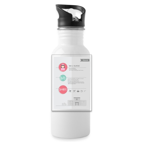 Nurse Resume Female - Water Bottle