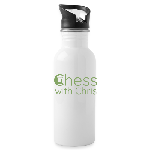 Chess With Chris Logo - Water Bottle