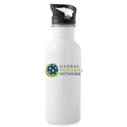 Global Pickleball Network on White - Water Bottle